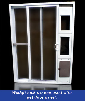 Lock With Pet Door Panel